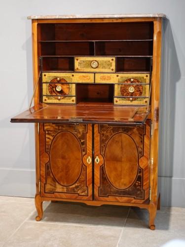 Rare small secretary by Jean-François Hache -