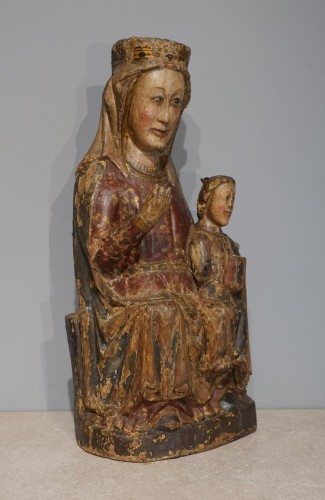 Virgin and Child in Majesty known as ''Sedes Sapientiae '', late 13th cent - Sculpture Style Middle age