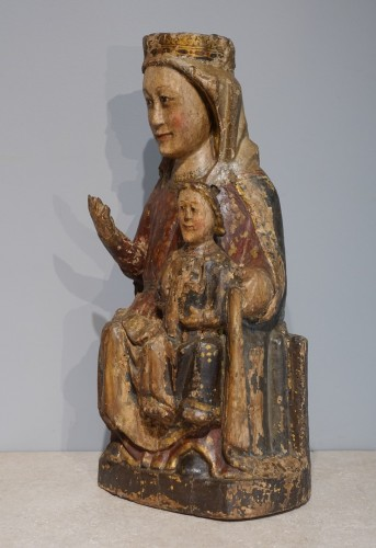 Sculpture  - Virgin and Child in Majesty known as ''Sedes Sapientiae '', late 13th cent