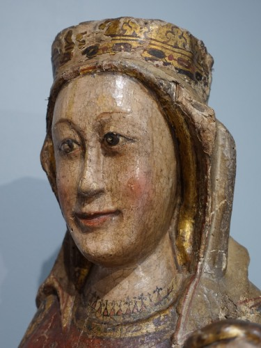 Virgin and Child in Majesty known as ''Sedes Sapientiae '', late 13th cent -