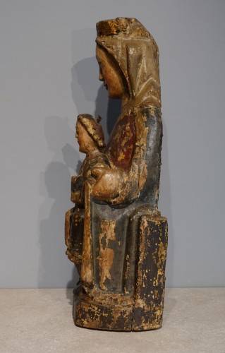 Virgin and Child in Majesty known as ''Sedes Sapientiae '', late 13th cent - Middle age