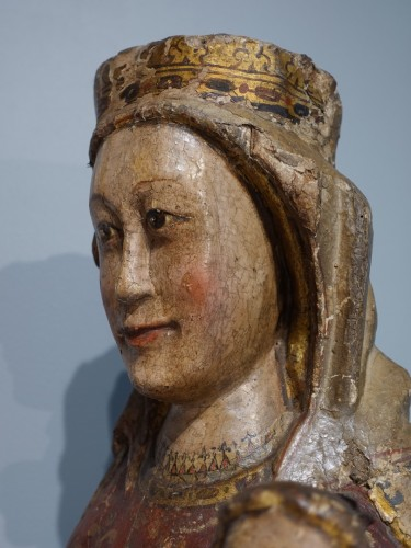 Middle age - Virgin and Child in Majesty known as ''Sedes Sapientiae '', late 13th cent