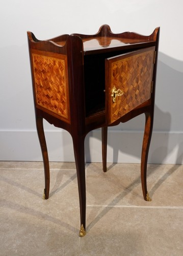 Furniture  - Louis XV bedside table in marquetry