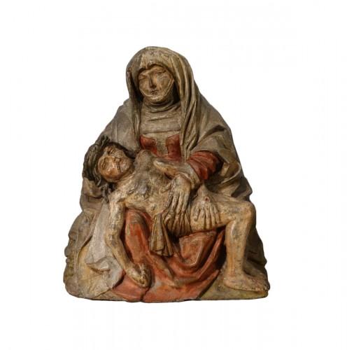 Polychrome stone Pietà circa 1500