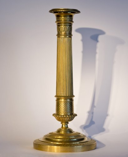 Gilt bronze candlestick of Restoration period