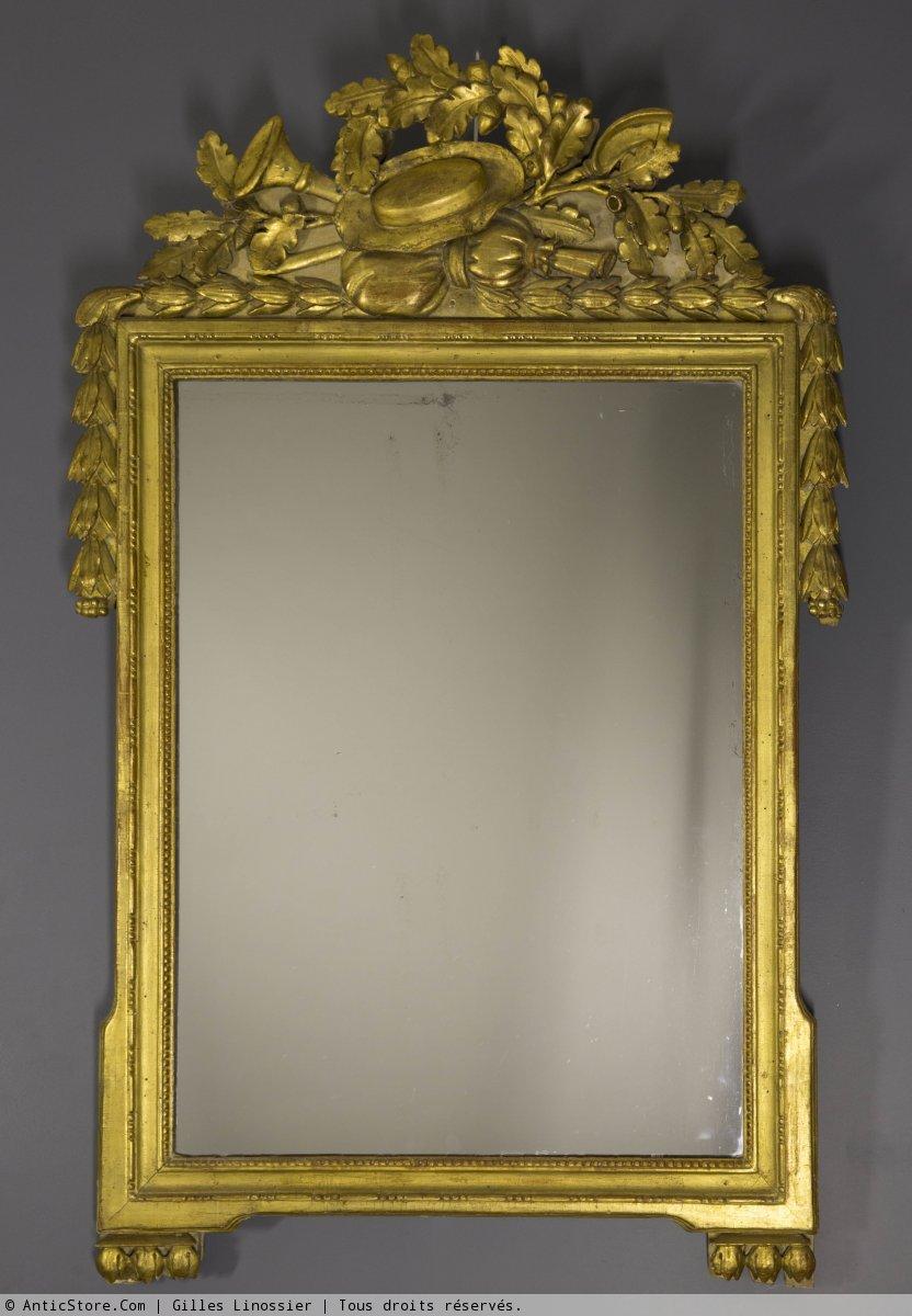Miroir proven al d poque louis xvi en bois dor xviiie for Miroir xviii