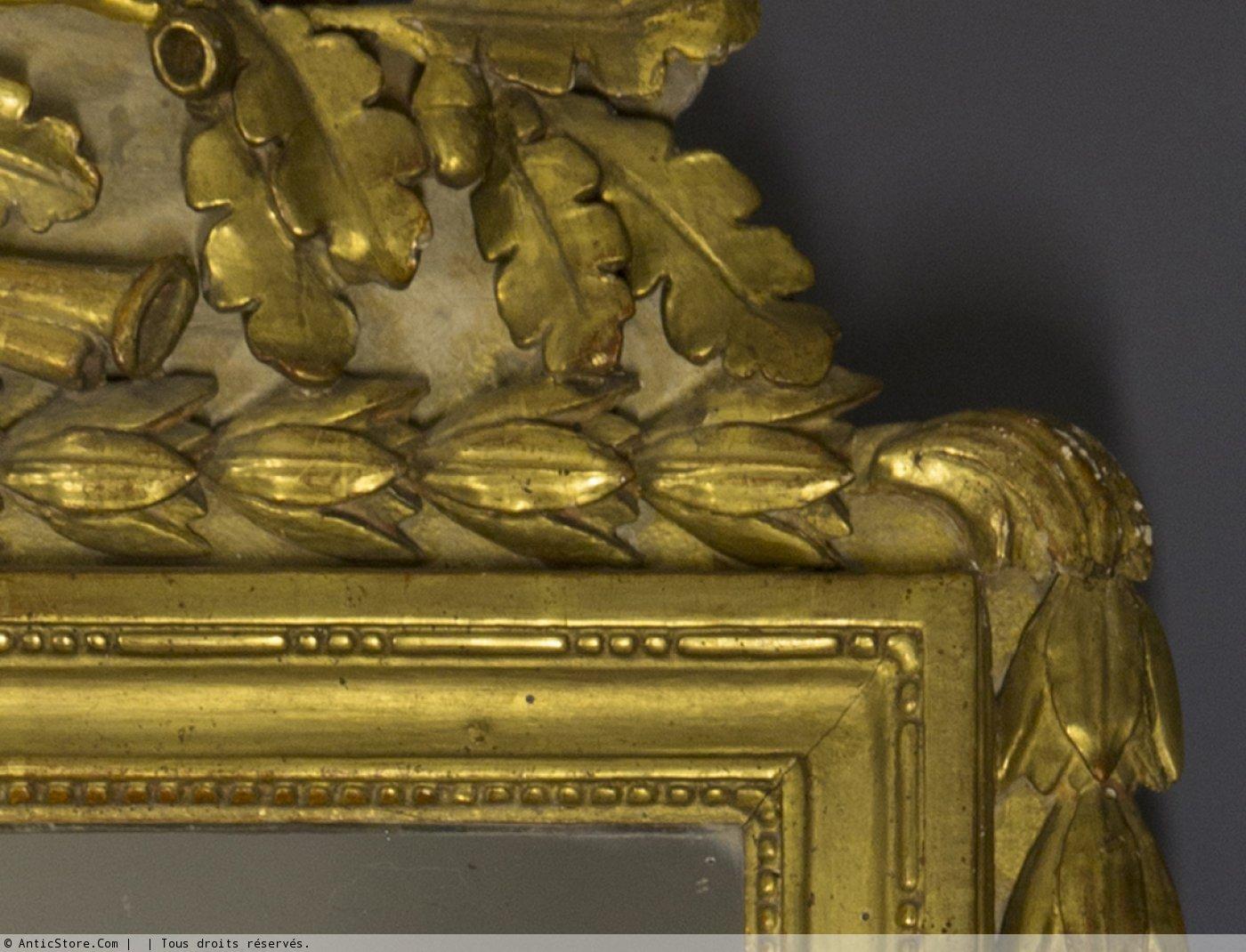 Miroir proven al d poque louis xvi en bois dor xviiie si cle - Galerie gilles linossier ...