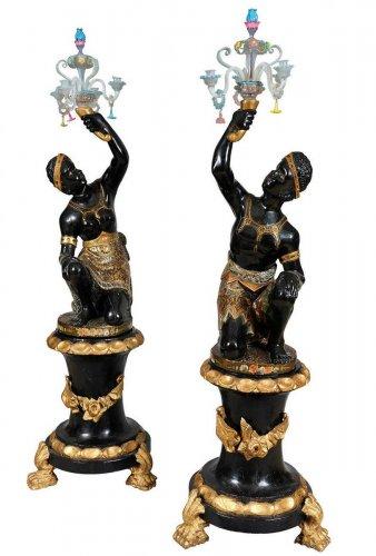 Pair of early 19th century Venetian Nubians