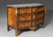 A Louis XV Commode, Stamped Popsel