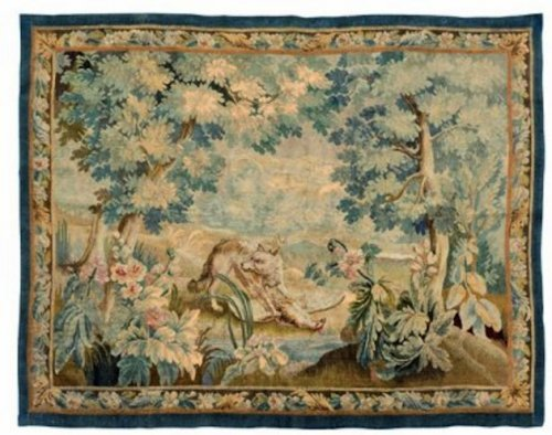 A French 19th century Aubusson tapestry