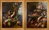 Pair of XIXth century still lifes