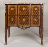A French Transition period marquetry commode stamped Durand