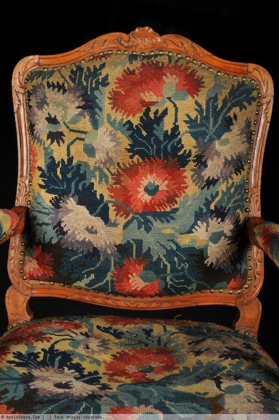 Paire de fauteuils d 39 poque r gence xviiie si cle - Galerie gilles linossier ...