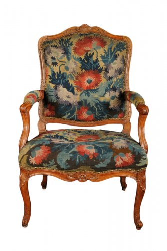Pair of Regence period armchairs by Hortaux