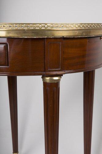 Table bouillotte en acajou d 39 poque louis xvi xviiie si cle - Galerie gilles linossier ...