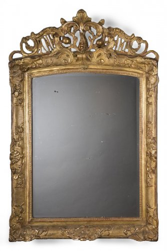 A French Regence period giltwood mirror
