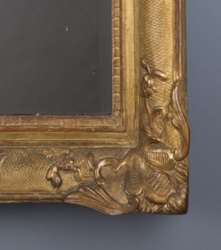 18th century - A French Regence period giltwood mirror