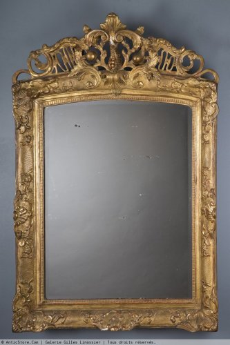 Antiquités - A French Regence period giltwood mirror