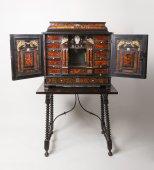 A XVIIth century red tortoiseshell flemish cabinet
