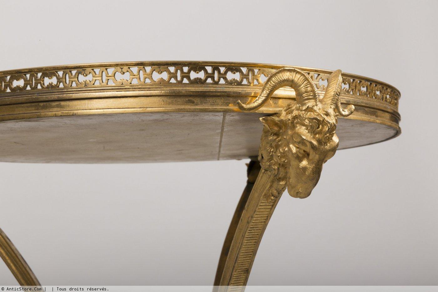 Gu ridon en bronze dor d 39 poque xixe anticstore antiquit s 19 me si cl - Galerie gilles linossier ...