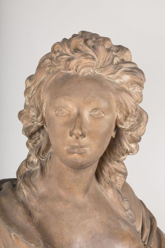 Grand buste de femme en terre cuite d 39 apr s augustin pajou xixe si cle - Galerie gilles linossier ...