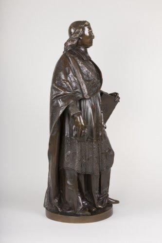 A bronze figure of Bossuet by Albert-Ernest Carrier Belleuse - Sculpture Style