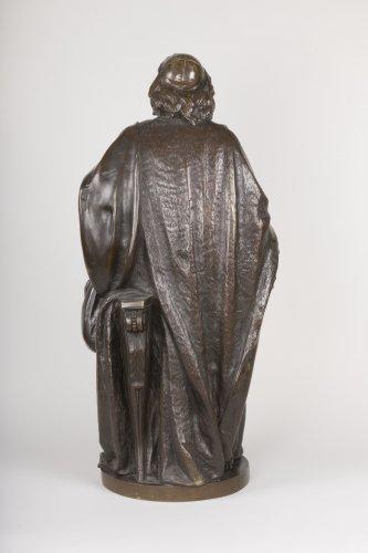 Sculpture  - A bronze figure of Bossuet by Albert-Ernest Carrier Belleuse