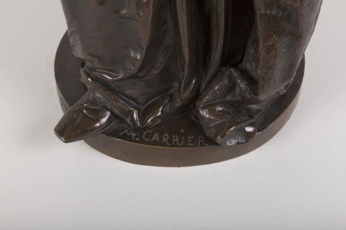 19th century - A bronze figure of Bossuet by Albert-Ernest Carrier Belleuse