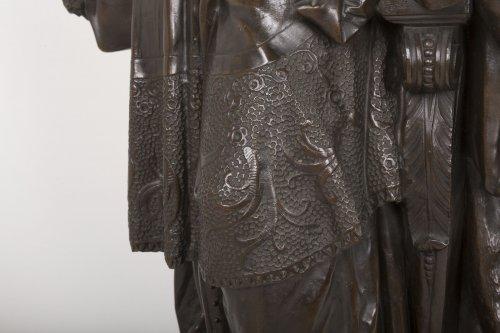 Antiquités - A bronze figure of Bossuet by Albert-Ernest Carrier Belleuse