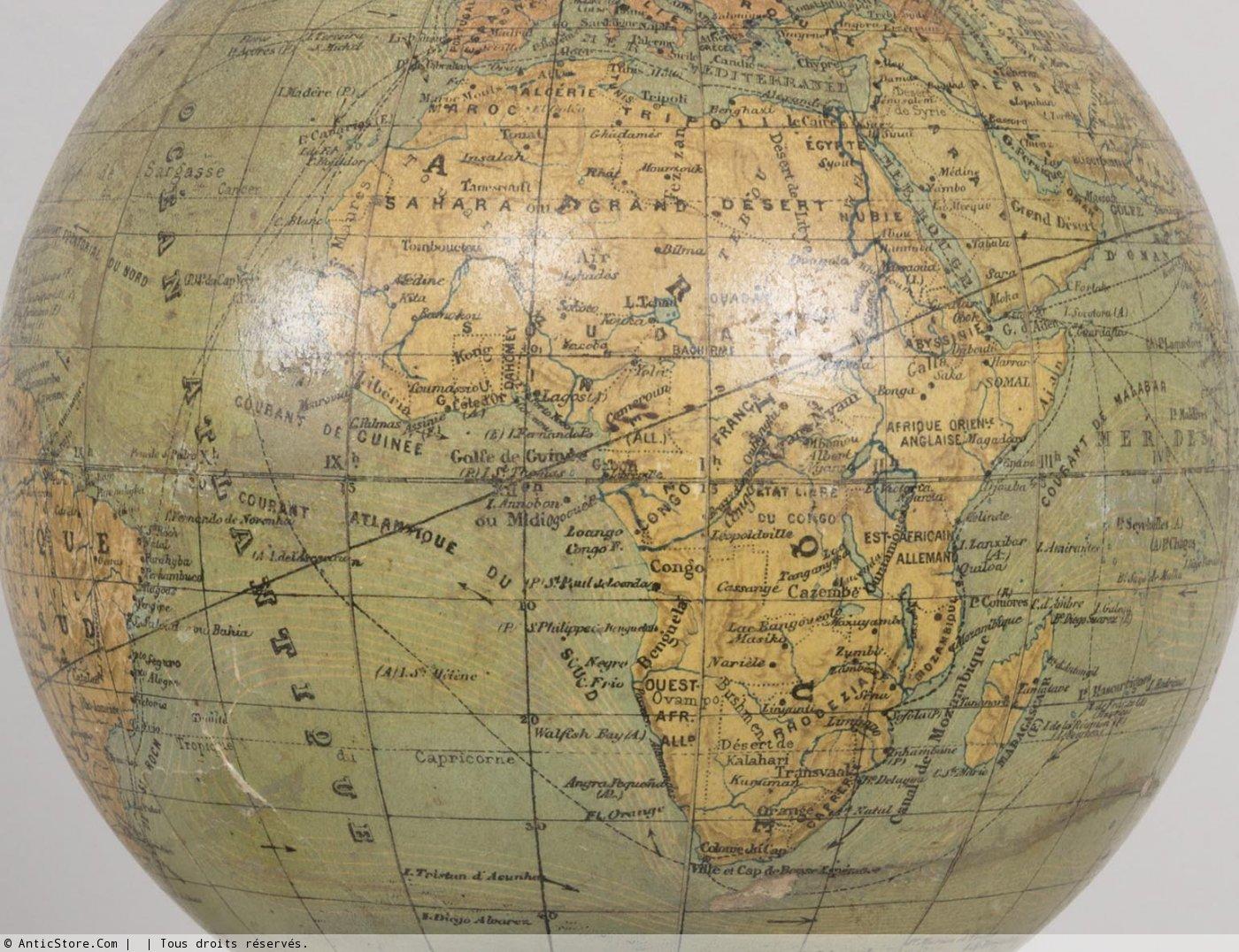 Petits globes terrestres de p rigot et forest xxe si cle - Galerie gilles linossier ...