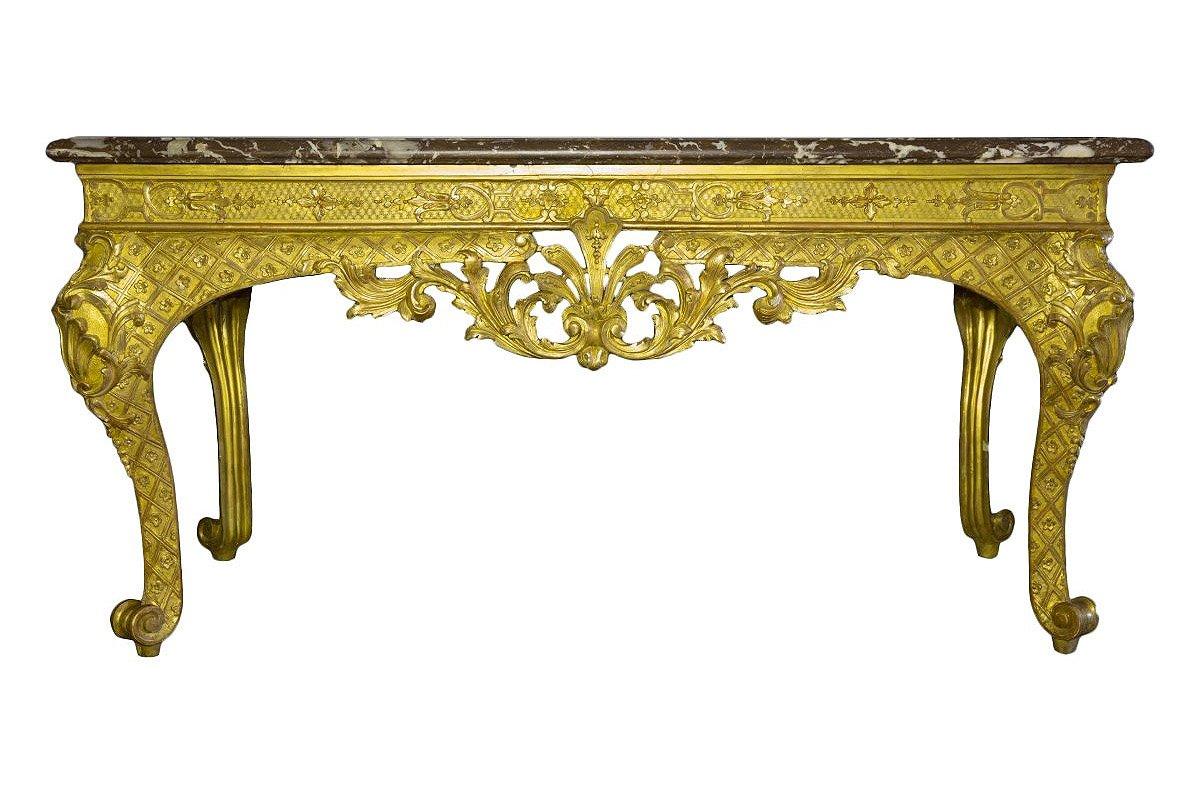 Table à gibier en bois doré dépoque Régence  XVIIIe siècle  N37001