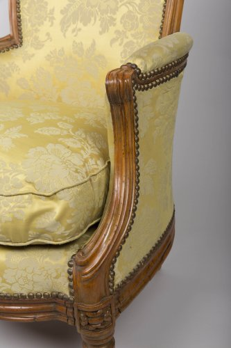 French Bergere armchair of Transition period - Seating Style Transition