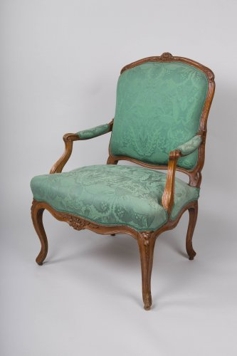 Pair of Louis XV armchairs stamped Blanchard - Seating Style Louis XV