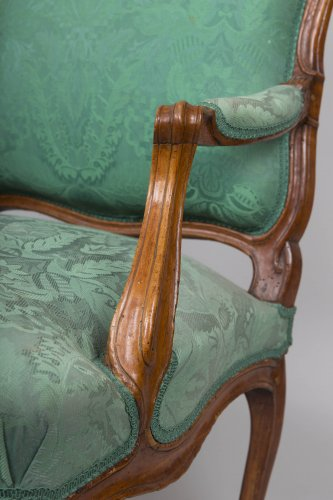 Seating  - Pair of Louis XV armchairs stamped Blanchard