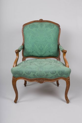 Pair of Louis XV armchairs stamped Blanchard - Louis XV