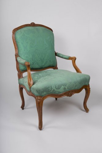 Louis XV - Pair of Louis XV armchairs stamped Blanchard