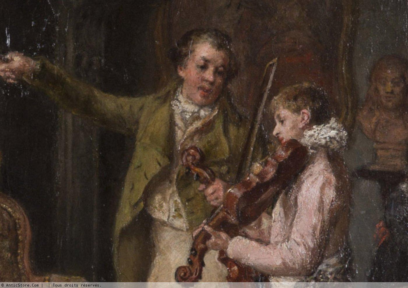 La le on de violon cole belge d 39 poque xixe - Galerie gilles linossier ...