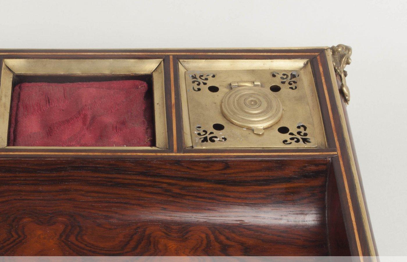 Encrier en palissandre et bronze dor d 39 poque louis xv xviiie si cle - Galerie gilles linossier ...