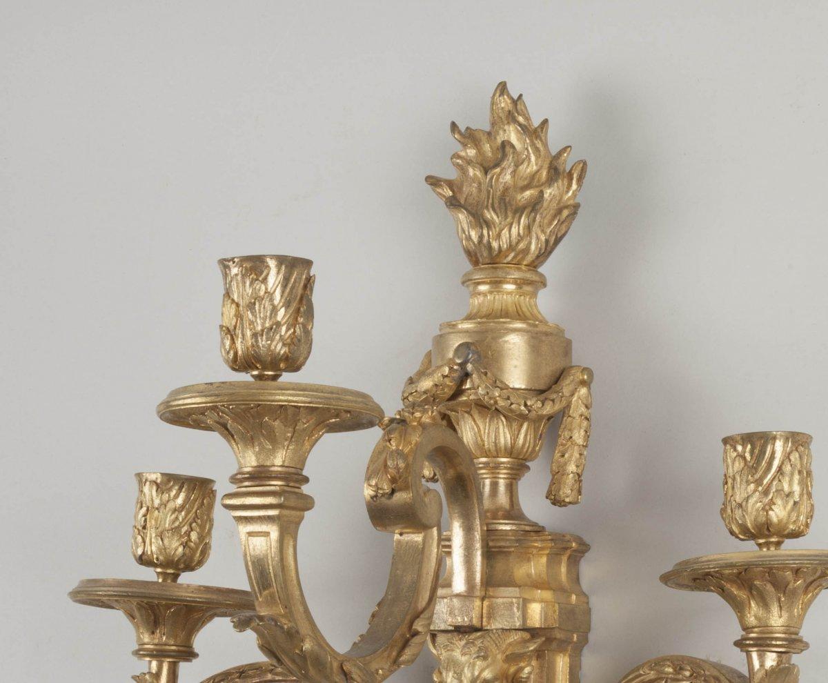 Paire d 39 appliques en bronze dor xviiie si cle - Galerie gilles linossier ...