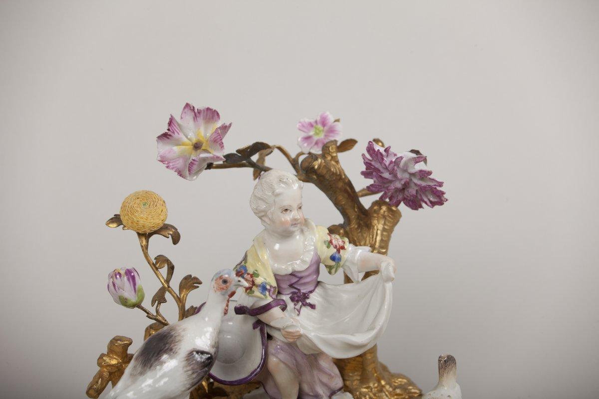 Groupe en porcelaine polychrome de meissen xviiie si cle - Galerie gilles linossier ...