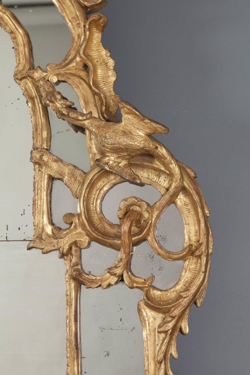 Miroir d poque r gence en bois dor aux chim res xviiie si cle - Galerie gilles linossier ...