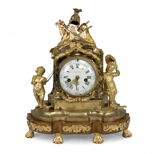 French Transition period gilt bronze mantel clock