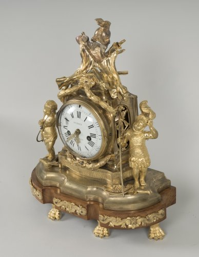 Clocks  - French Transition period gilt bronze mantel clock