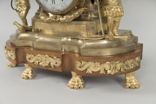 French Transition period gilt bronze mantel clock -