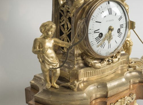 Transition - French Transition period gilt bronze mantel clock