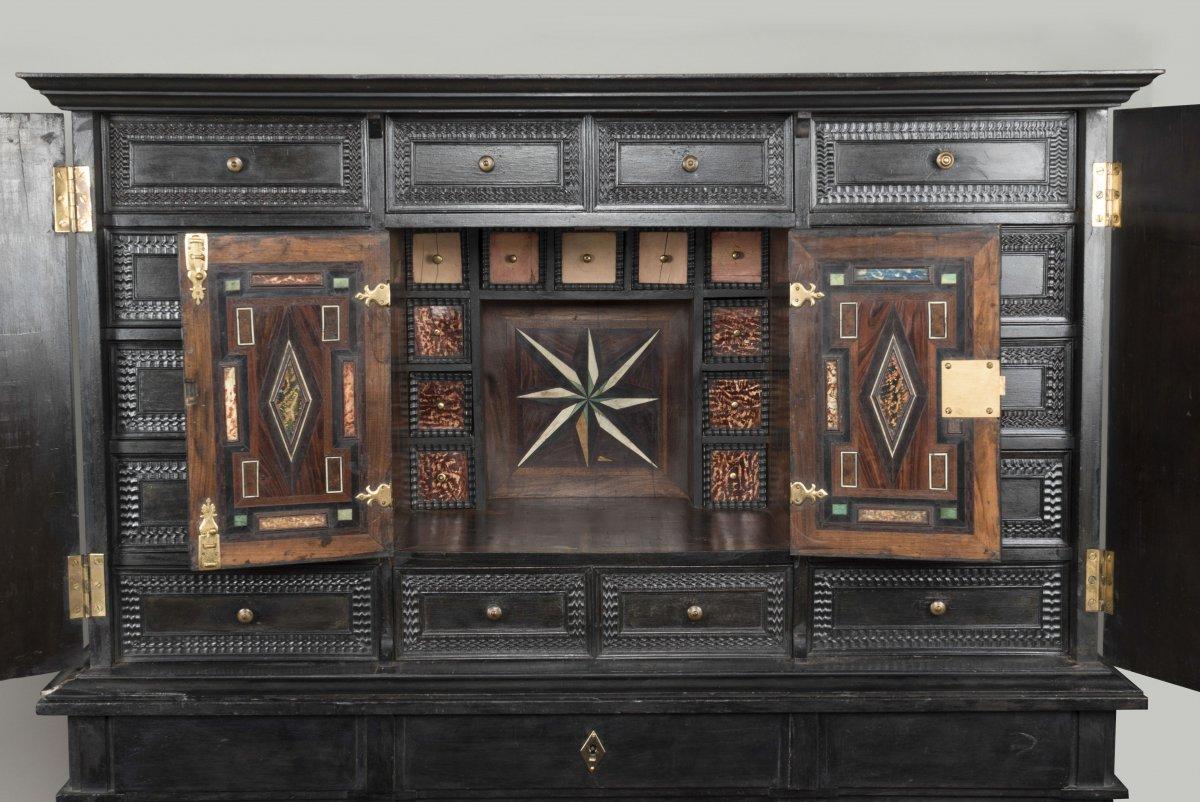 Cabinet flamand en b ne et bois noirci xixe si cle - Galerie gilles linossier ...