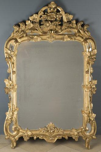 Miroir dor ancien antiquit s anticstore for Miroir store