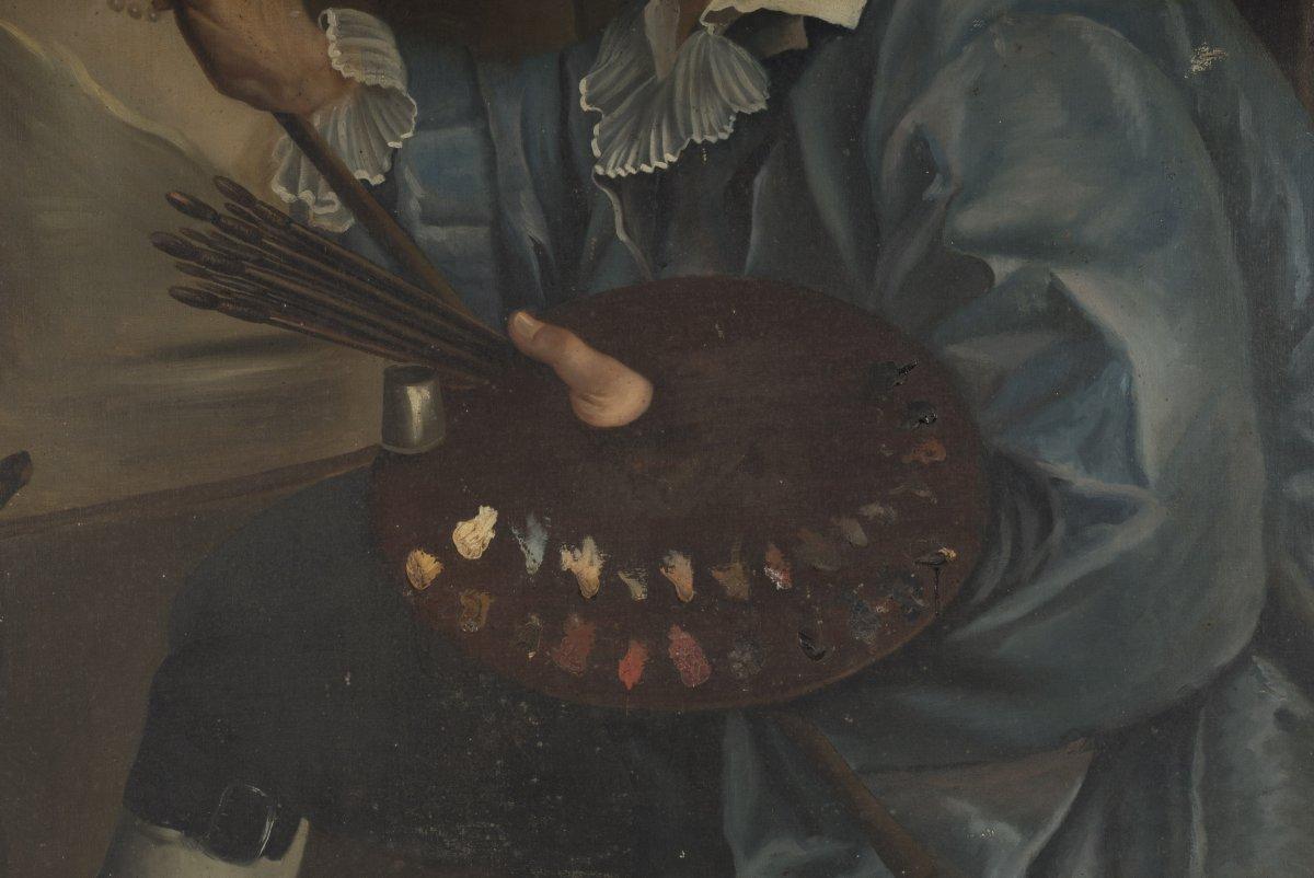 Autoportrait du peintre peignant xixe si cle - Galerie gilles linossier ...
