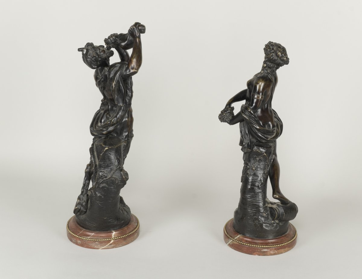 Statuettes en bronze de bacchus et d 39 une bacchante xixe si cle - Galerie gilles linossier ...