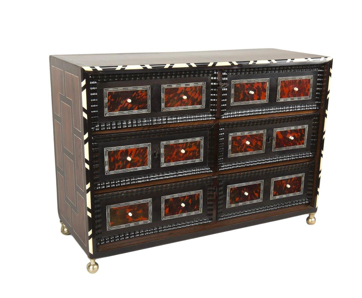 petit cabinet flamand en 233 caille et palissandre xviie si 232 cle n 48668
